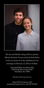 Portrait Wedding Invitation
