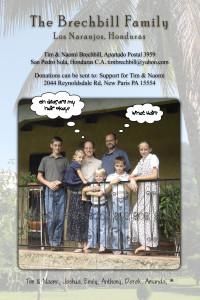 Missionary Prayer Card